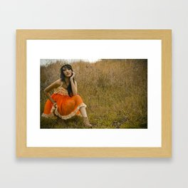 Ruffles and Cheetah print Framed Art Print
