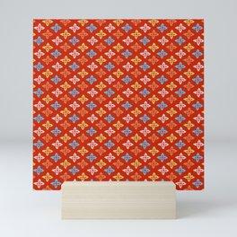 Las Flores - Red 01 (Patterns Please) Mini Art Print