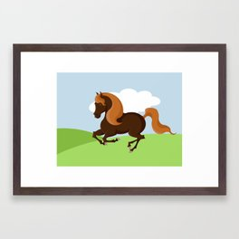 A horse Framed Art Print