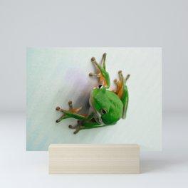 Green Tree Frog Mini Art Print