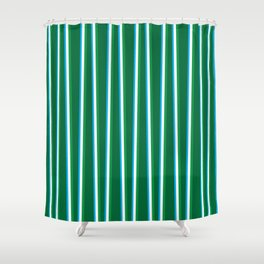 Between the Trees - Forest Green, Green & Blue #811 Shower Curtain