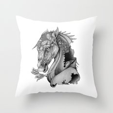 The King's Lost Knight Throw Pillow