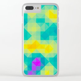 Triangulated grid #1 Clear iPhone Case
