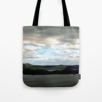 sweden Tote Bags featuring lake sweden. by zenitt
