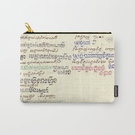 Mou Pei Na - Cambodian Print Carry-All Pouch