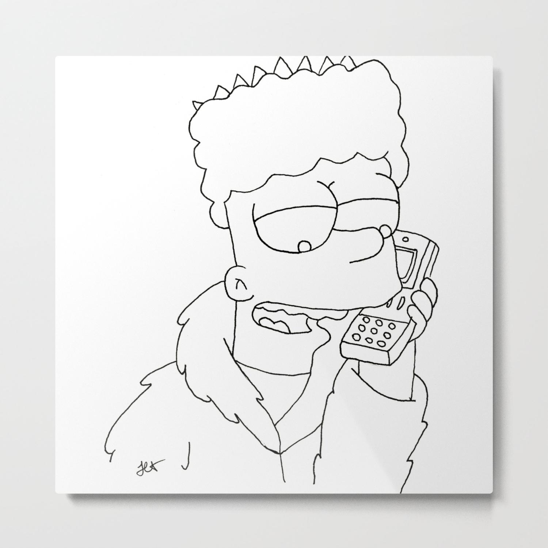 Bart Simpson Gangsta Metal Print By Jasminassandri Society6