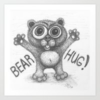 Art Print featuring Bear Hug by C. Dunning