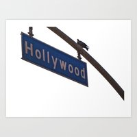 hollywood Art Prints featuring Hollywood by Elle