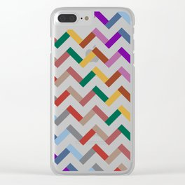Chevron Autumn Color - Living Hell Clear iPhone Case