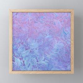 Frozen Leaves 3 Framed Mini Art Print