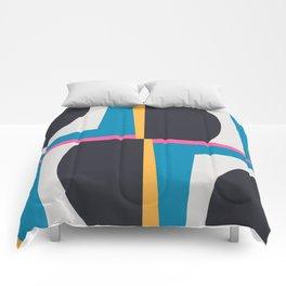 Modern Geometric 65 Blue Comforters
