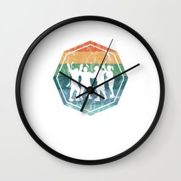 Vintage Ice Hockey Wall Clock