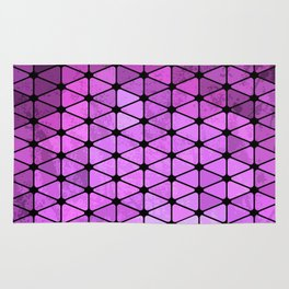 Purple Geometric Design Rug