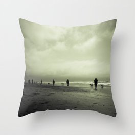 Zombie Apocalypse: The Beach Throw Pillow