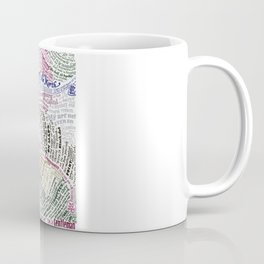 St. Petersburg Literary Map Coffee Mug