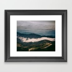 hiking in malaysia Framed Art Print