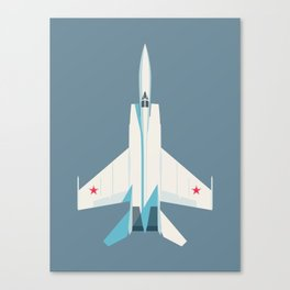 MiG-25 Foxbat Interceptor Jet Aircraft - Slate Canvas Print