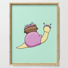 Floral Snail Serving Tray