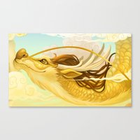 asian Canvas Prints featuring Asian Dragon by Sunset Dragon