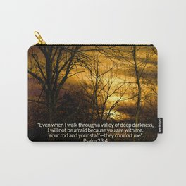 Winter's Sunset Carry-All Pouch