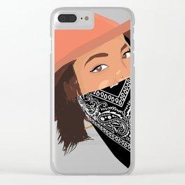Cute Bandana Girl Clear iPhone Case