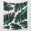 Tropical Blush Banana Leaves Dream #1 #decor #art #society6 by anitabellajantz