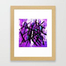 Choppy Lilac Framed Art Print