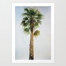 Palm tree, coastal watercolor Art Print