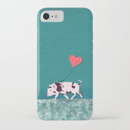 Baby Pig With Heart Balloon iPhone Case