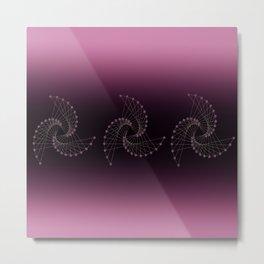 Swirl Sparkle on Burgundy Metal Print