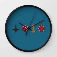 inception Wall Clocks featuring inception by Live It Up