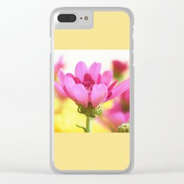 Pink mum with peack background Clear iPhone Case