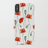 poppies iPhone & iPod Cases featuring Poppies by Julia Badeeva