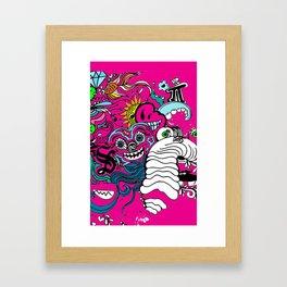Doodle Graffitti Framed Art Print