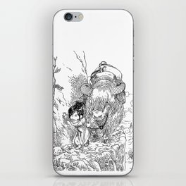 Promenade dans la montagne - Walking in the mountains iPhone Skin