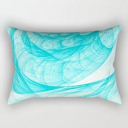 Aqua Marine Waves Rectangular Pillow