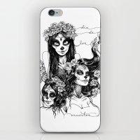 dia de los muertos iPhone & iPod Skins featuring Dia de los Muertos by Khaedin