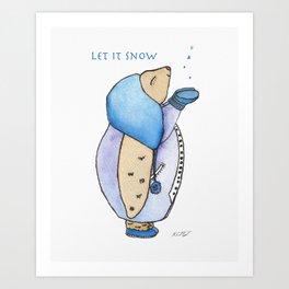 First Snow Fall Art Print