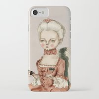 marie antoinette iPhone & iPod Cases featuring Marie Antoinette by Maripili