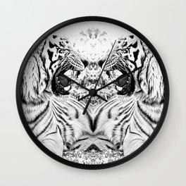 Tiger mirror Wall Clock