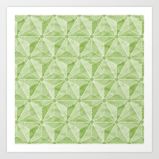 Geodesic Palm_Green Art Print