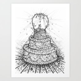 Ghost of a Wedding Cake Art Print
