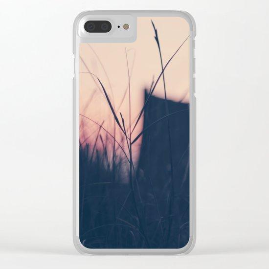 beach sunset II Clear iPhone Case