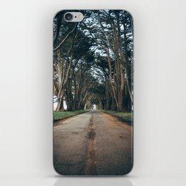 Cypress Tree Tunnel Portrait iPhone Skin