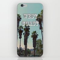west coast iPhone & iPod Skins featuring West Coast by Romeo & Rebeccah