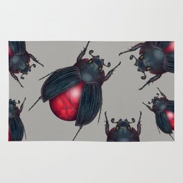 Red Jasper Beetle Rug
