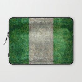 National flag of Nigeria, Vintage textured version Laptop Sleeve