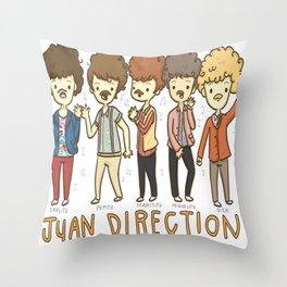 Juan Direction One Direction Cartoon Throw Pillow