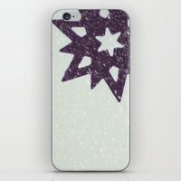 snowflake iPhone & iPod Skins featuring snowflake by Beverly LeFevre