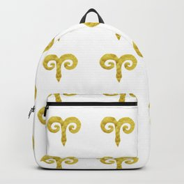 Aries Golden Zodiac Sign Backpack
